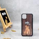 Ốp lưng iphone 11 Pro max khảm gỗ thủ công 1